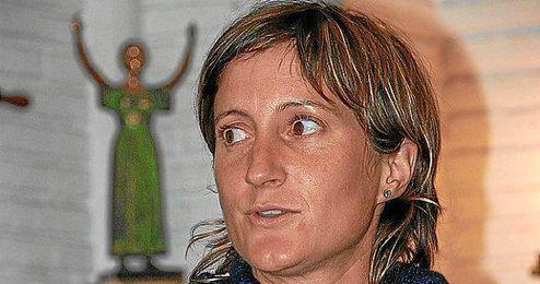 Anna Corbella en una rueda de prensa.