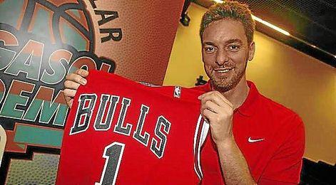 Pau Gasol tras su fichaje con los Chicago Bulls.
