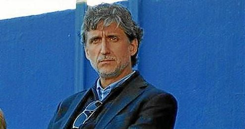 Pablo Alfaro el pasado domingo viendo el juvenil del Marbella.