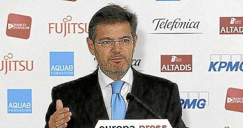 El ministro de Justicia, Rafael Catalá, esta mañana.