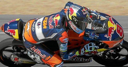 El piloto australiano durante una carrera del pasado año en Moto3