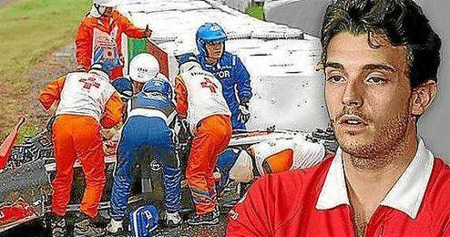 Imagen del accidente de Bianchi el pasado 5 de octubre.