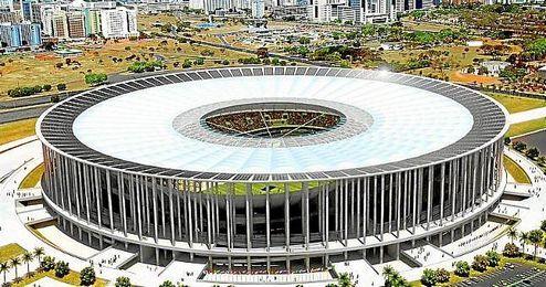El Estadio Nacional de Brasilia fue la obra más cara.