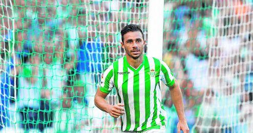 Esta imagen, la de Rubén Castro justo después de marcar un tanto como bético, se ha repetido ya en 95 ocasiones desde septiembre de 2010.