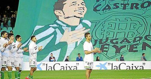 Rubén Castro durante su homenaje.