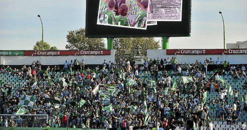 Los Supporters Sur en el Benito Villamarín.