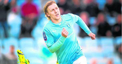 Emil Forsberg fue titular ayer en Liga de Campeones con el Malmö.