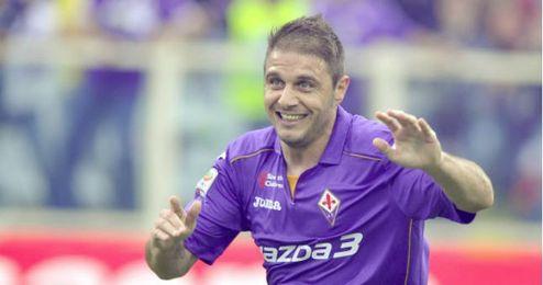 Joaquín con la Fiorentina.