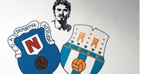 Uno de los vestuarios del Municipal Antonio Puerta fue pintado con los escudos y el rostro del jugador.