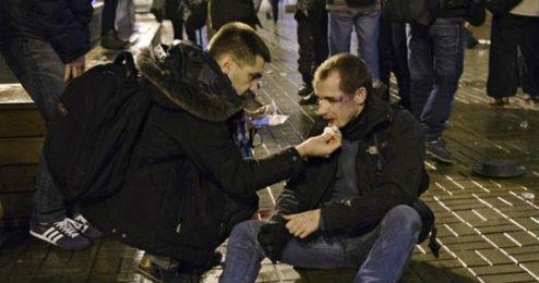 Aficionados heridos tras la pelea