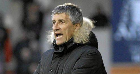 Quique Setién, técnico del Lugo.