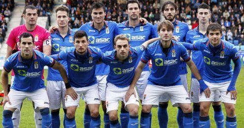 Once inicial del Oviedo en un partido