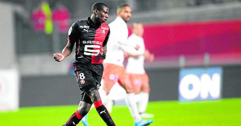 El franco-malí Abdoulaye Doucouré, durante el encuentro entre el Rennes y el Montpellier del 6 de diciembre.