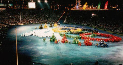 Imagen de la ceremonia de apertura de Atlanta 1996.