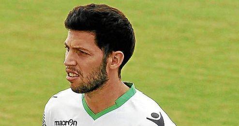 Pacheco durante un entrenamiento con el Betis.