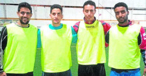 Gali, Slama, Salamu y Jatri posaron para ESTADIO días antes de emprender camino hacias tierras vascas, donde jugaron un torneo en favor del Sáhara.