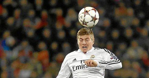 Toni Kroos durante un partido con el Real Madrid.