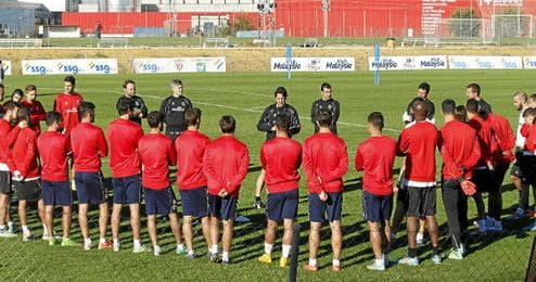 Imagen de un entrenamiento de la presente temporada.