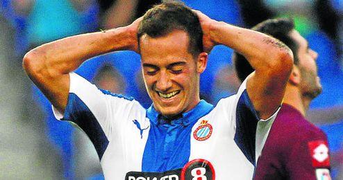 Lucas Vázquez fue el autor del tercer gol del Espanyol en la ida.