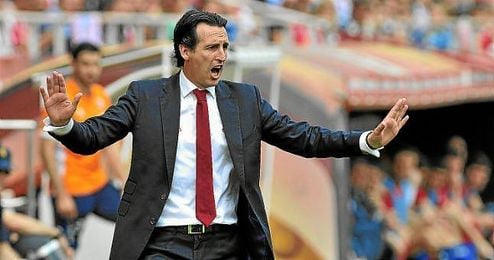 Unai Emery, durante el Sevilla-Athletic.