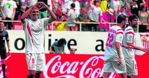 Bacca celebra su gol al Athletic.