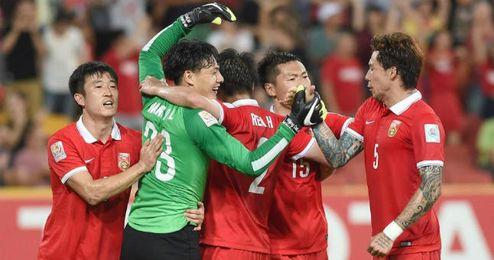 La selección absoluta china.