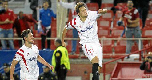 Denis marcó el tanto de la victoria frente al Zenit.