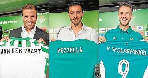 Rafael van der Vaart, Germán Pezzella y Ricky van Wolfswinkel han llegado este verano.