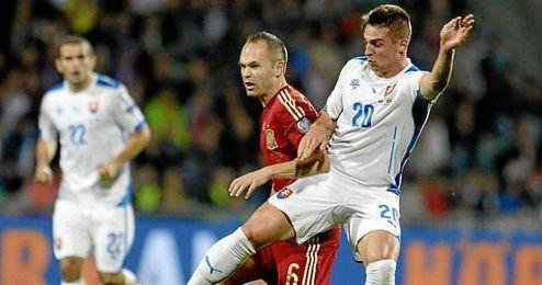 El equipo español perdió en el partido de ida en Eslovaquia.