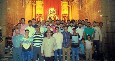 Imagen del club en la parroquia de Sta. Mar�a de la Estrella .