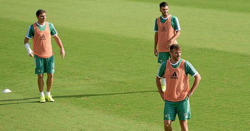 Van der Vaart pudo compartir entrenamiento con Joaquín.