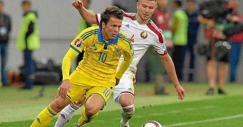 Konoplyanka jug� todo el partido.