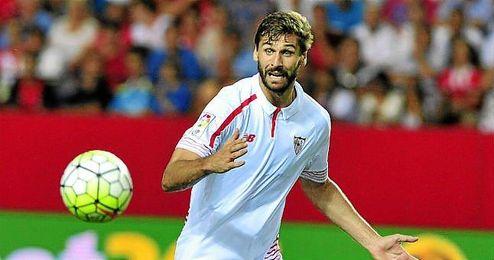 Llorente, en su debut frente al Atl�tico.