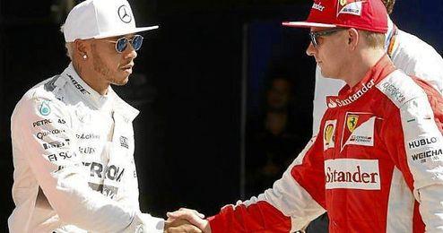 Hamilton y Raikkonen saldrán de la primera línea de parrilla.