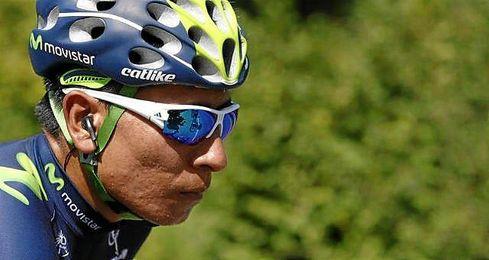 El ciclista colombiano del equipo Movistar en la etapa de este domingo.