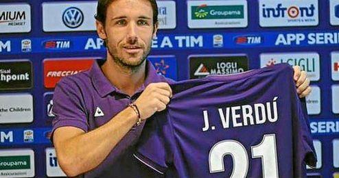 Verdú en su presentación con la Fiorentina hace unos días.