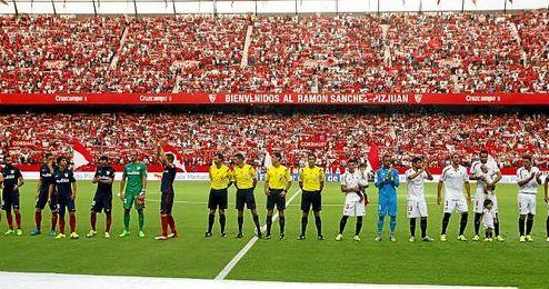 Partido de la segunda jornada de Liga entre el Sevilla y el Atlético de Madrid.