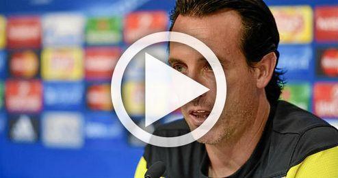 Unai Emery analiza el debut del Sevilla en la Champions
