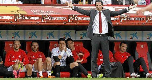 Imagen del partido entre Sevilla y Rayo de la pasada temporada.