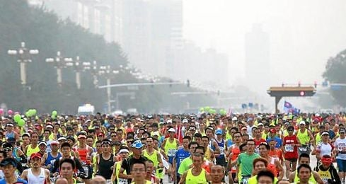 La 35� edici�n de esta carrera se celebr� un mes despu�s de que la capital china acogiera los Mundiales de Atletismo.