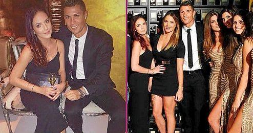 Cristiano Ronaldo junto a Claudia Sánchez.