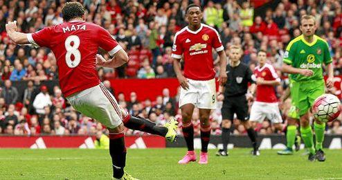 Mata, protagonista en la victoria del United.