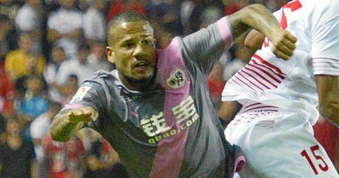 Beb� durante un lance del pasado Sevilla-Rayo.