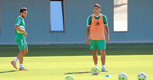 Imagen de Vargas durante un entrenamiento.