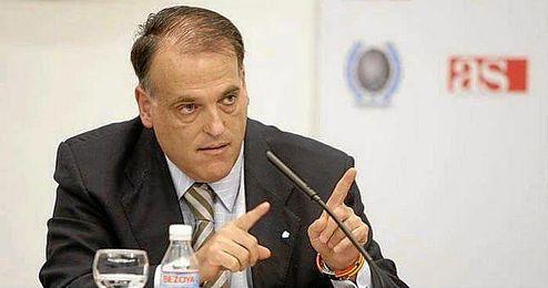 Tebas confirmó la apuesta del organismo que él preside por el fútbol femenino.