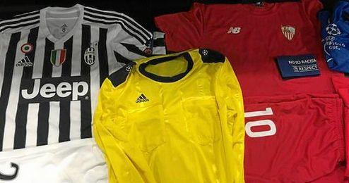 Estas son las equipaciones para el Juventus-Sevilla.