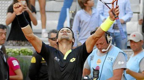 Ferrer celebra una victoria en Madrid.