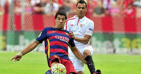 Luis Suárez, como sus compañeros, no estuvo acertado.