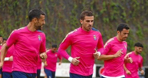 Javi Varas, en un entrenamiento con Las Palmas.