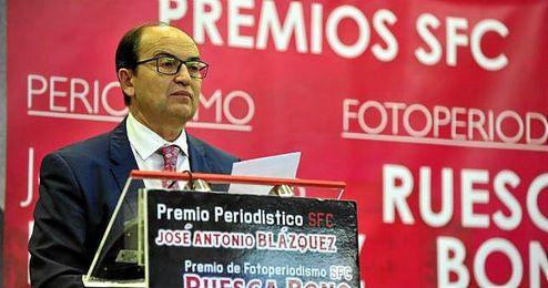 Jos� Castro, en un reciente acto del Sevilla.